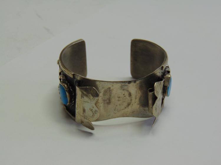Lot 77: Native American Style Watch Cuff Spider Bracelet