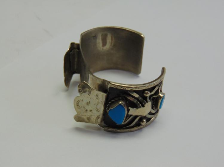 Native American Style Watch Cuff Spider Bracelet