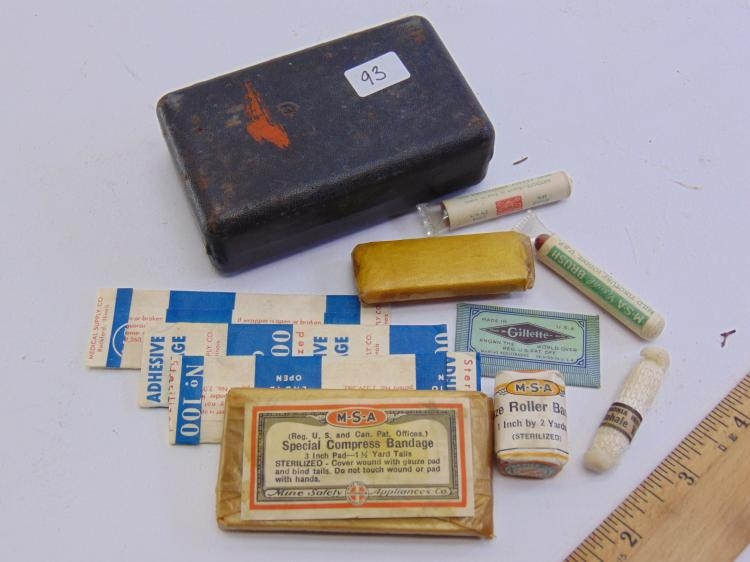 Lot of Vintage Mine Safety  Appliances Co First Aid Supplies in Gillette Case