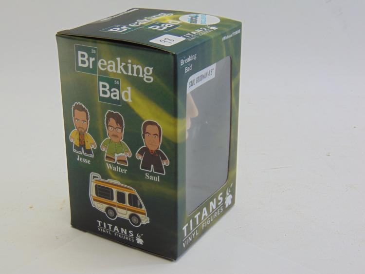 Lot 98: Titans Saul Goodman Breaking Bad Vinyl Figure New in Box