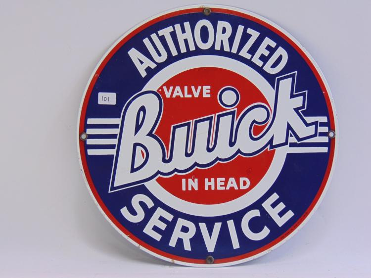 Ande Rooney Porcelain Buick Authorized Service Sign