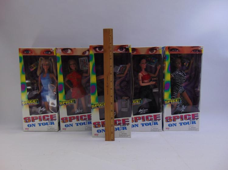 Lot 102: Lot of 5 Galoob Spice Girls on Tour Collectible Dolls