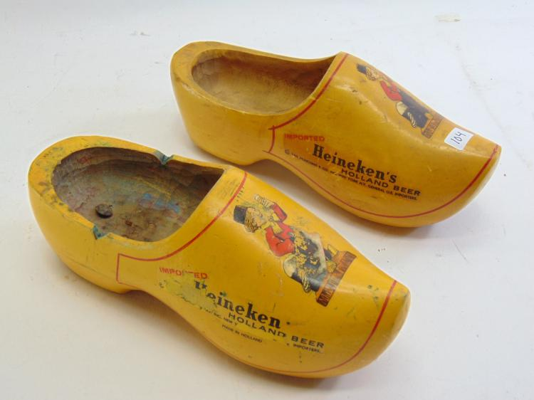 Vintage Heineken Holland Beer Advertising Dutch Clogs