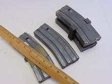 Lot 107: Lot of 4 Okay and Center Industries US Military .223 5.56 Rifle 10 Round Magazine Clips