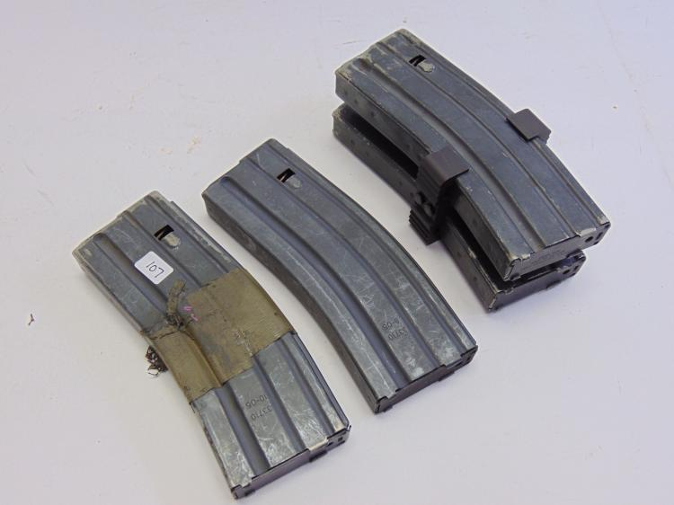 Lot of 4 Okay and Center Industries US Military .223 5.56 Rifle 10 Round Magazine Clips