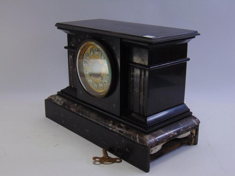 Lot 112: Beautiful Antique Duhme and Co Mantle Clock in Marble Case