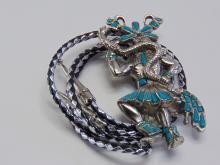 Lot 121: Large Native American Snake Dancer Bolo Tie