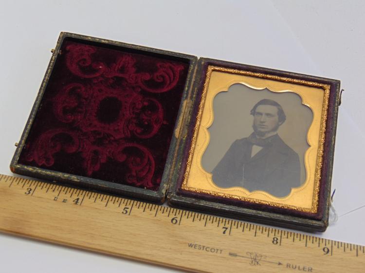 Lot 127: Antique Daguerreotype Portrait Photograph of a Man