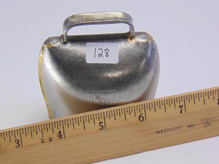 Lot 128: Vintage Swiss Made 6/0 Metal Goat Bell