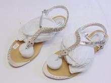 Lot 133: Db Dk Fashion Sadyy-6 Women's Rhinestone Snake Sandals Sz 7