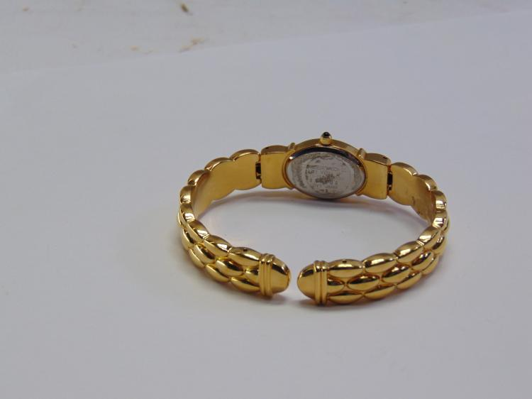 Lot 147: New Ladies Citizen Elegance Gold Tone Spring Cuff Watch