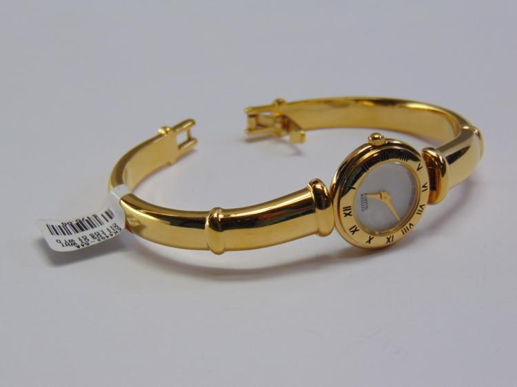 Lot 149: New Ladies Citizen Gold Tone Roman Numeral Watch