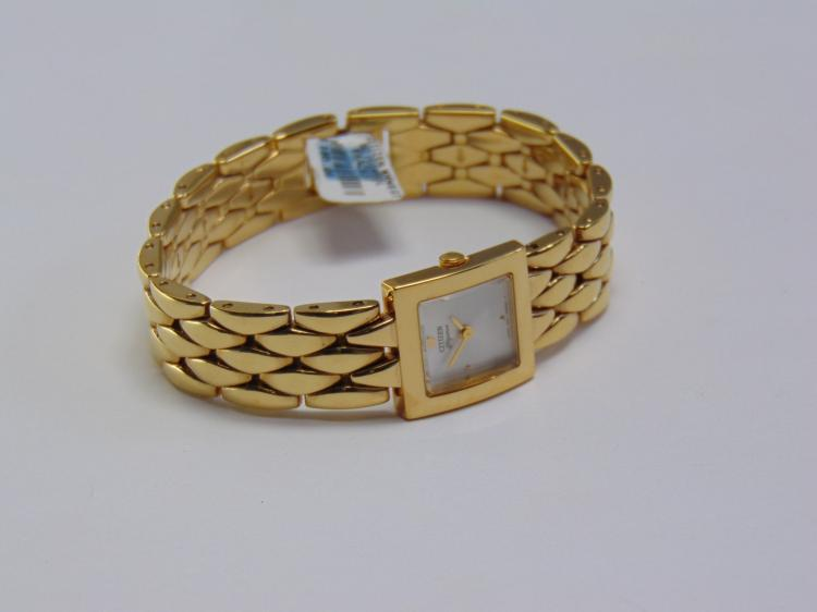 New Ladies Citizen Elegance Signature Gold Tone Watch