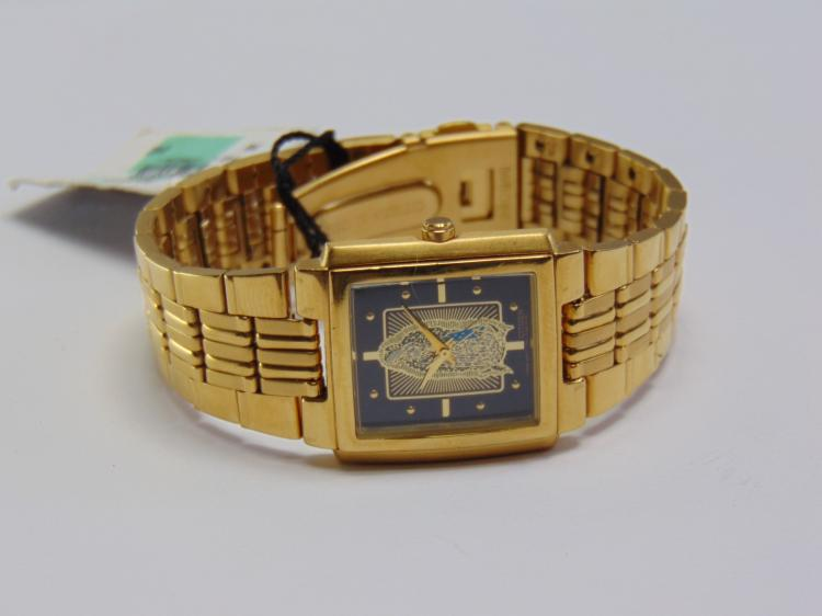 New Men's Citizen Gold Tone Virgin Mary Watch