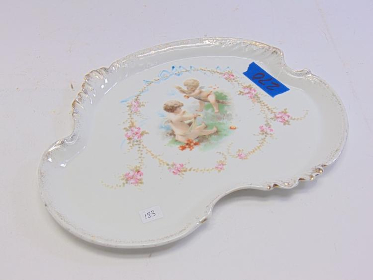 Limoges France Hand Painted Cherub Serving Platter