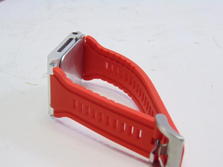 Lot 189: Apple Ipod Touch Watch on Orange Silicone Band