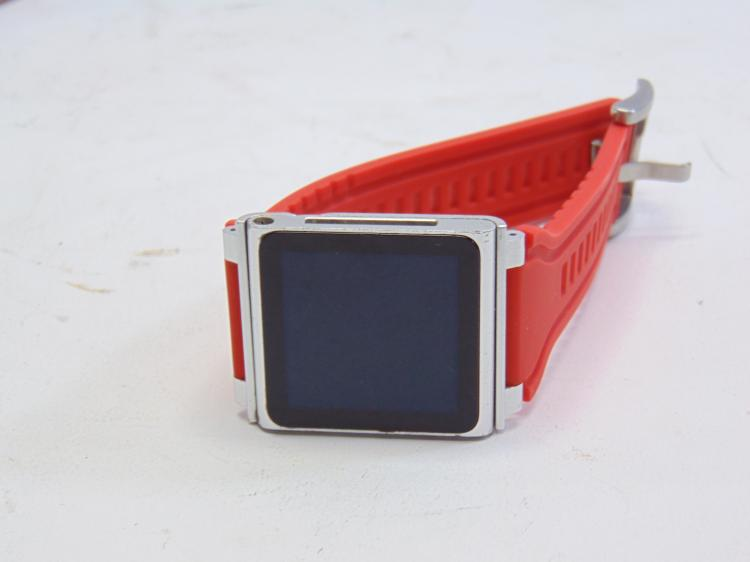 Apple Ipod Touch Watch on Orange Silicone Band