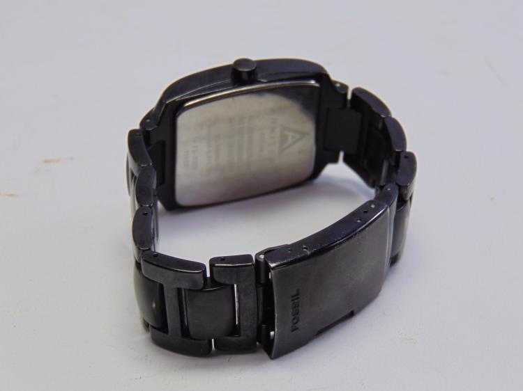 Lot 193: Fossil Arkitekt FS-4120 Men's Black Stainless Steel Watch