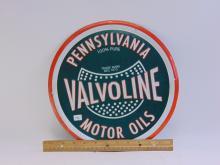 Lot 196: Valvoline Pennsylvania Motor Oil Tin Sign