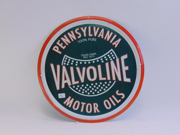Valvoline Pennsylvania Motor Oil Tin Sign