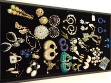 Mixed Lot Of Vintage And Modern Costume Jewelry Post Dangle And Clip-On Earrings