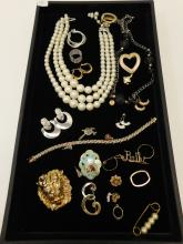 Lot Of Vintage And Modern Mixed Costume Jewelry