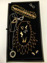 Vintage And Modern Mixed Lot Of Costume Jewelry Some Signed