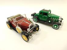 Lot Of 2 National Motor Museum Mint 1932 Chevy And Ford Model A Diecast Toy Cars