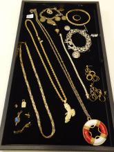 Mixed Lot Of Vintage And Modern Costume Jewelry Necklaces Bracelets Earrings Rings