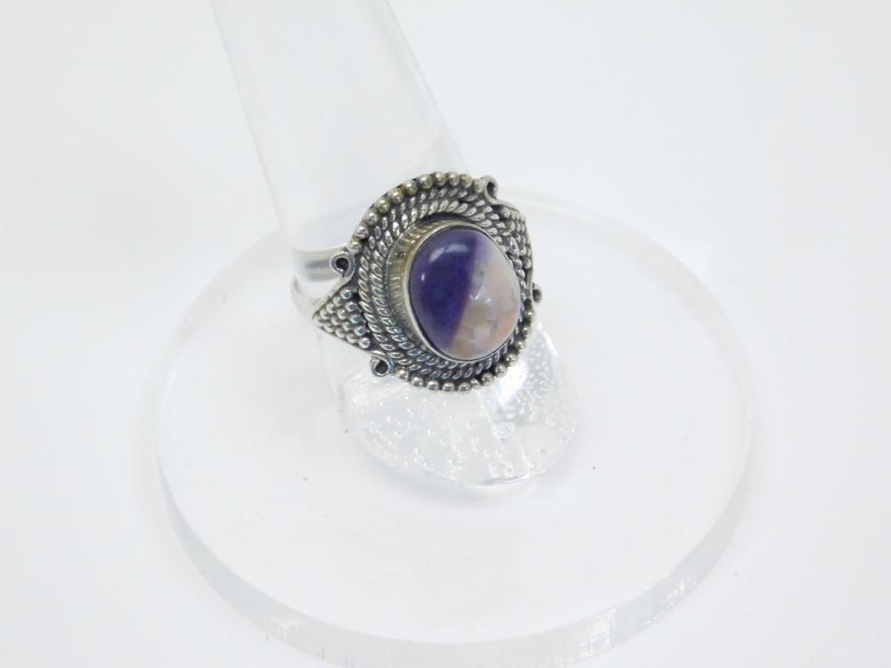 Thailand Sterling Silver Amethyst With Matrix Ring 5G Sz7.25