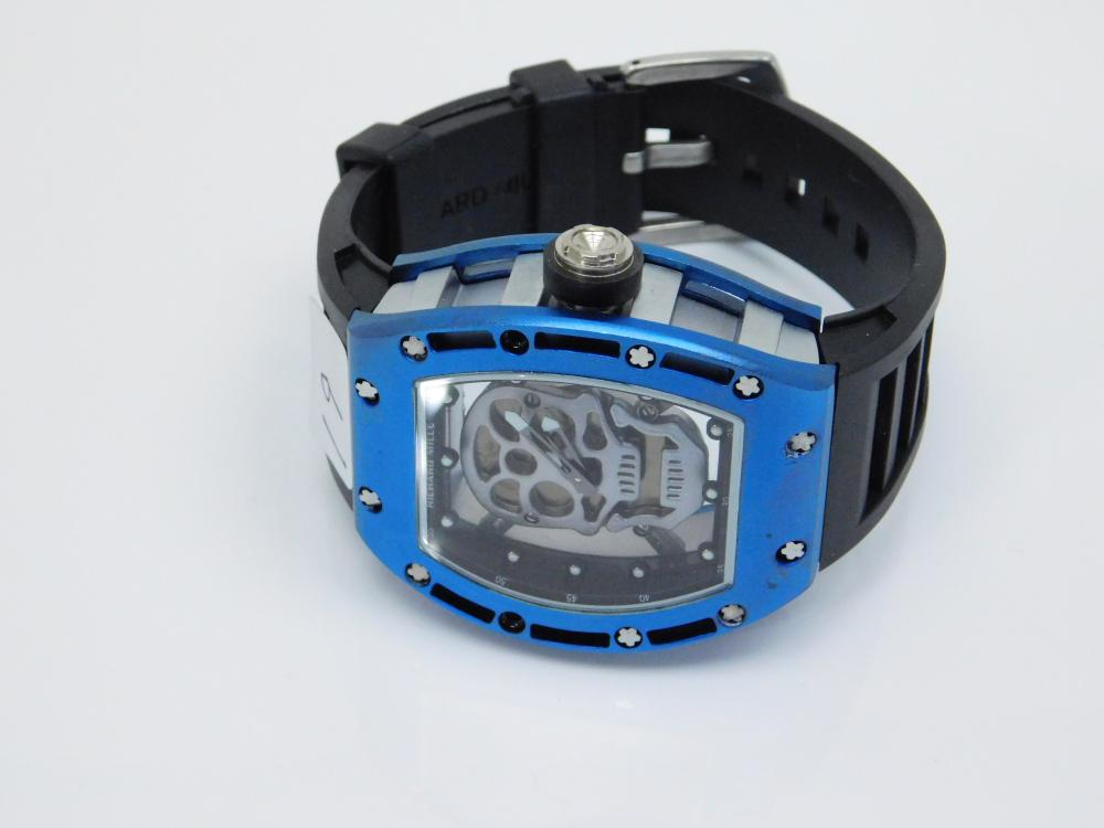 Mens Richard Mille Mens Skull Window Wrist Watch