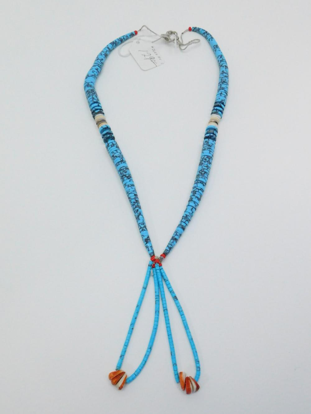 Vintage Native American Turquoise Jocla Necklace