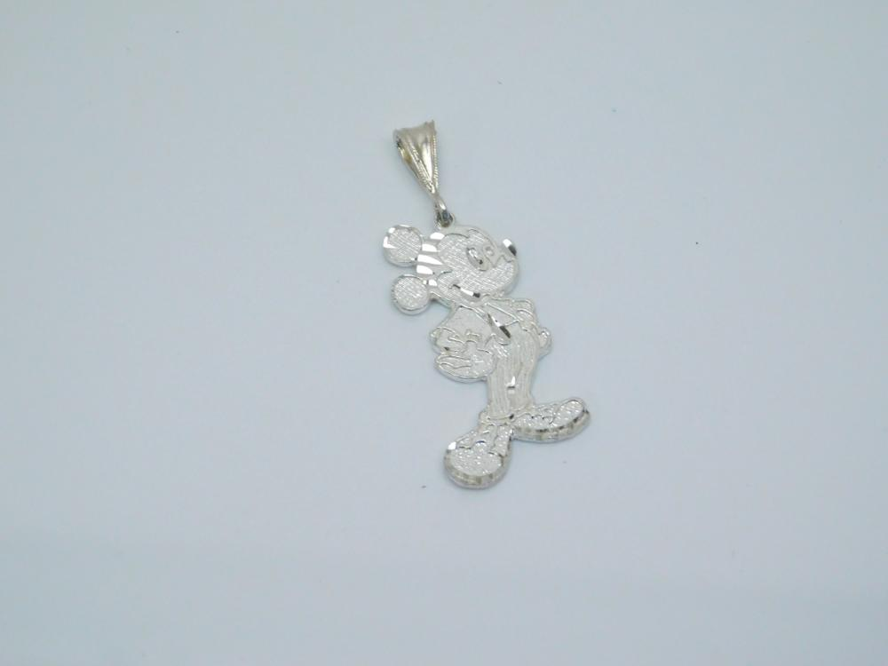 Sterling  Silver Mickey Mouse Fashion Pendant 4.8G
