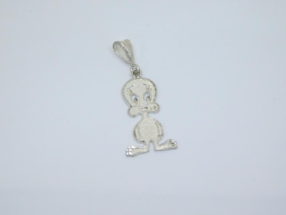 Sterling Silver Tweety Bird Pendant 2.7G