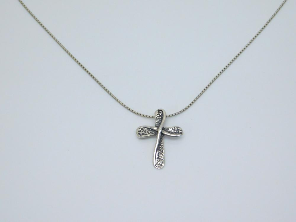 Didae Israel Sterling Silver Cross Pendant Necklace 5G