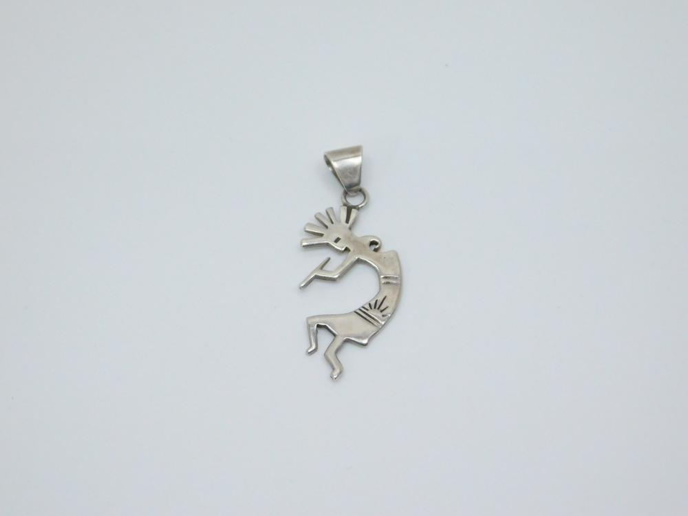 Native  American Sterling Silver Kokopelli Pendant 3G
