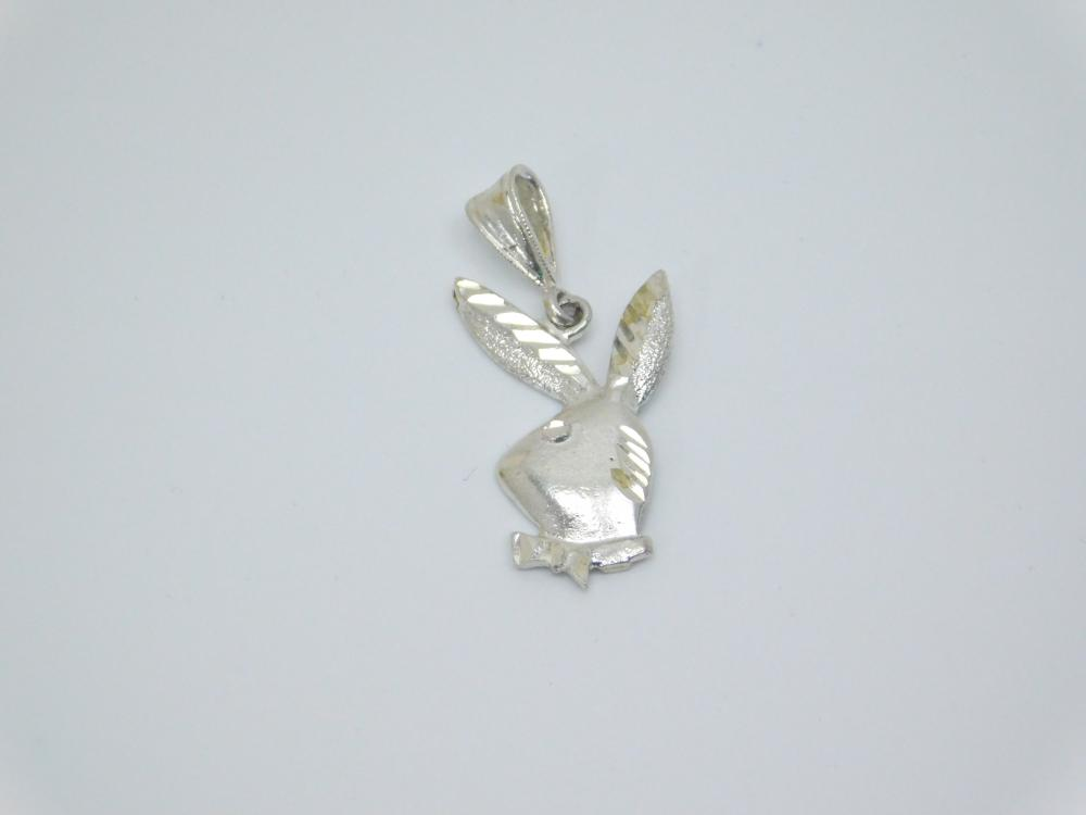 Sterling Silver Playboy Bunny Fashion Pendant 2.9G