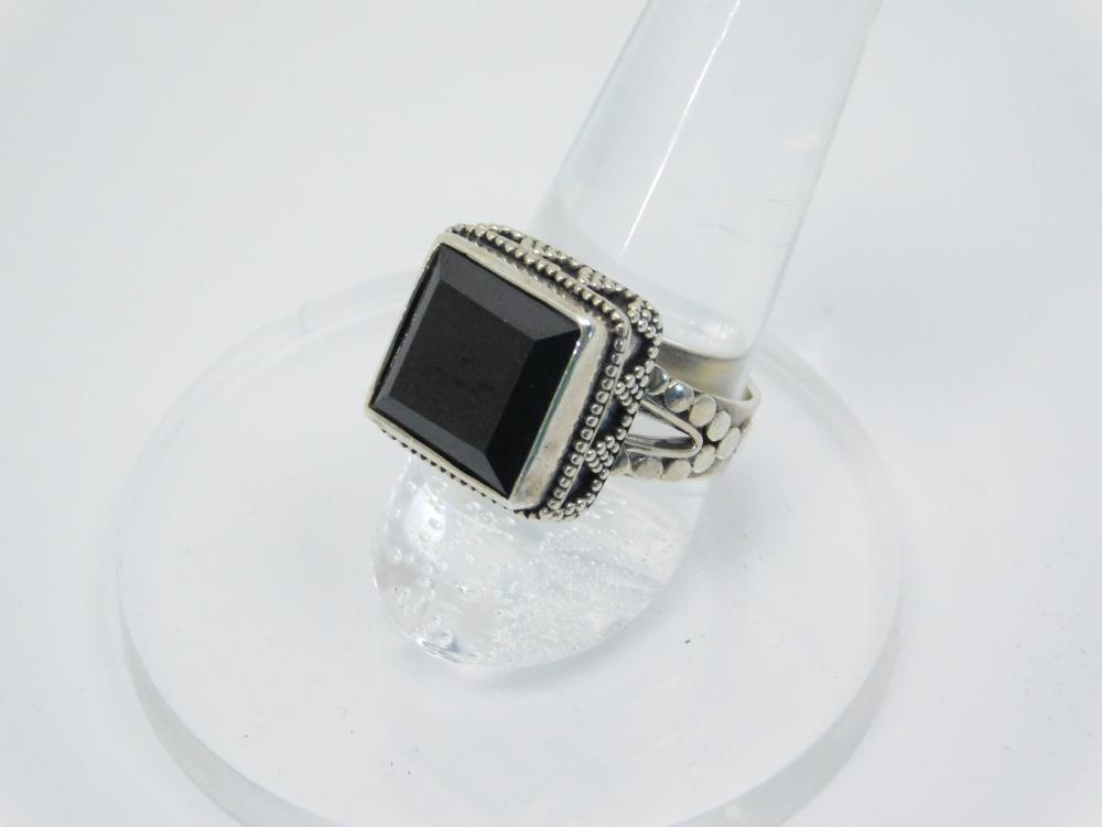 Thailand  Sterling Silver Black Onyx Ring 8G Sz7.5