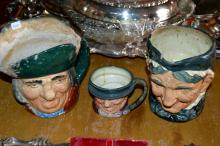 Lot Of 3 Royal Doulton Toby Mugs