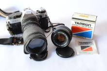 Canon Ae-1 Program 35Mm Film Camera With Lenses