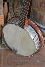 Vintage Wood And Metal Banjo