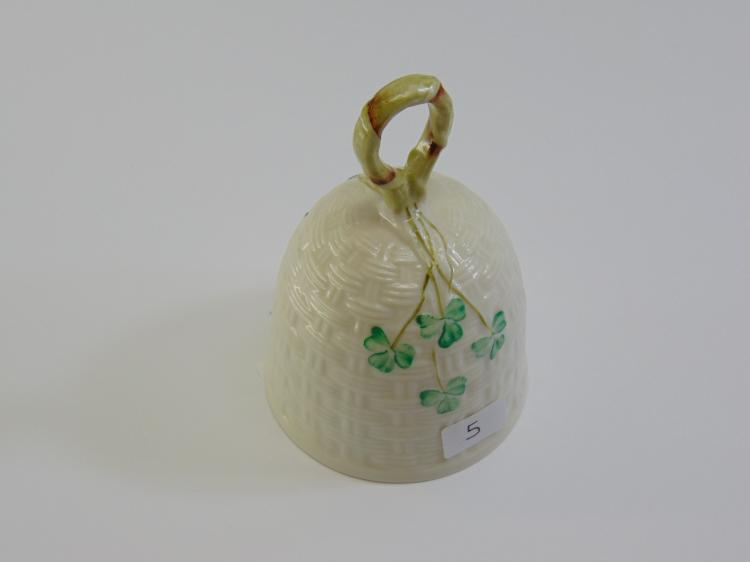 Lot 5: Belleek Ireland Porcelain Clover Dinner Bell