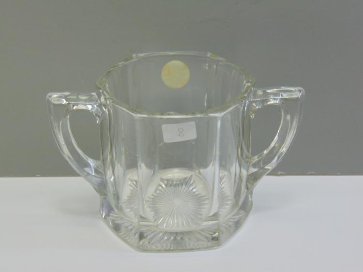 1900s Heisey Crystal Sugar Bowl