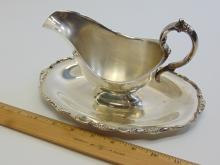 Lot 11: Handcrafted International Silver Co Silverplated Gravy Boat