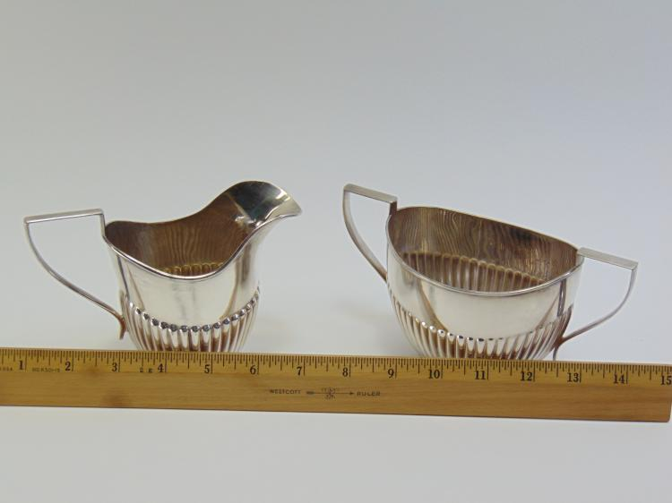 Lot 19: Lot of 4 EPNS Sugar Bowl Creamer Coffee and Tea Pots