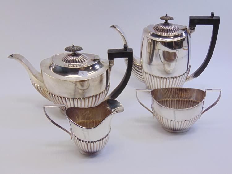 Lot of 4 EPNS Sugar Bowl Creamer Coffee and Tea Pots