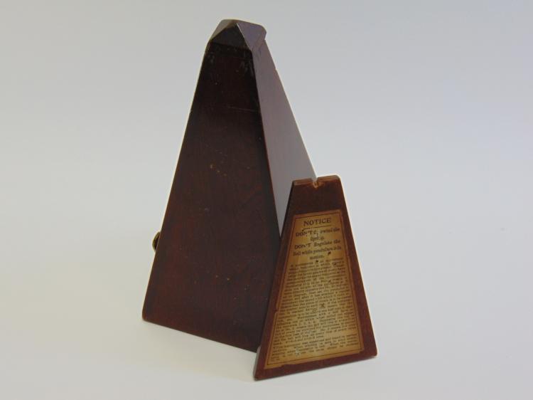 Lot 20: Antique Wooden Maelzel Metronome