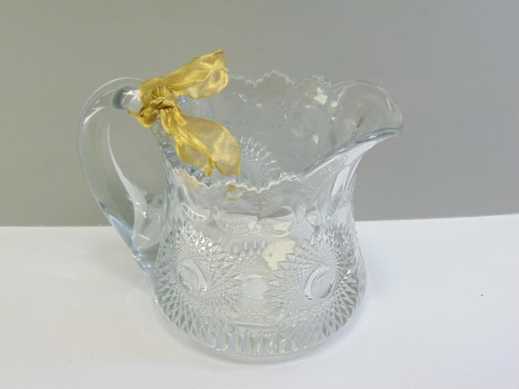 Lot 37: 1890s Heisey Cut Crystal Pitcher
