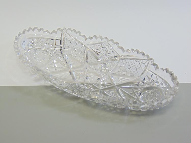 Cut Crystal Serving Dish