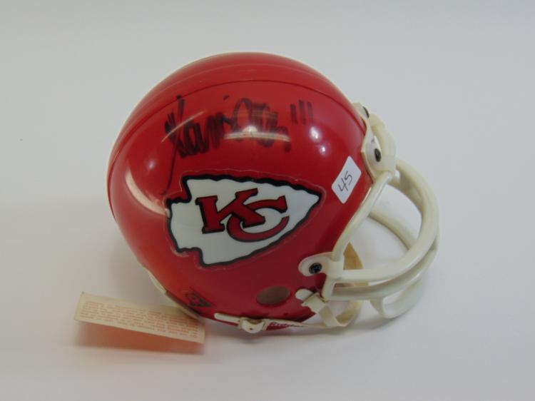 Kansas City Cheifs Miniature Riddell Helmet Signed by Marcus Allen